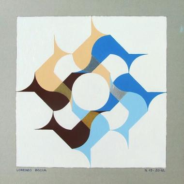 composizione 19, acrilico su cartone, 50x50, 2012 (collezione privata)