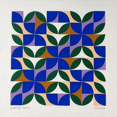 composizione 13, acrilico su cartone, 50x50 cm, 2013