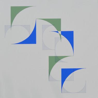 composizione 02a, acrilico e inchiostro su tavola, 80x80 cm, 2016