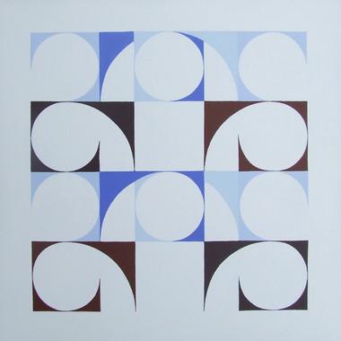 composizione 16, acrilico su cartone, 50x50 cm, 2014 (Comune di San Bassano)