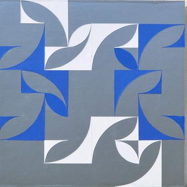 composizione 08/09/10, trittico, collage su tavola, 150x50 cm, 2015