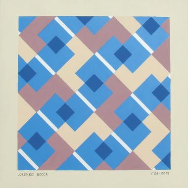 composizione 08, acrilico su cartone, 50x50 cm, 2013 (collezione privata)