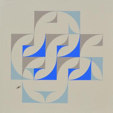 composizione 12, acrilico su tavola, 50x50 cm, 2015 (Museum of Geometric and Madi Art, Dallas)