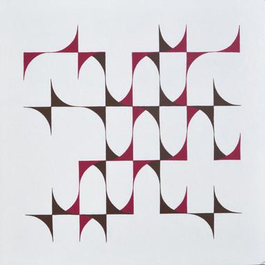 composizione 07, acrilico su cartone, 50x50 cm, 2015 (collezione privata)
