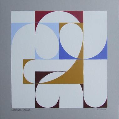 composizione 50, acrilico su cartone, 50x50 cm, 2011