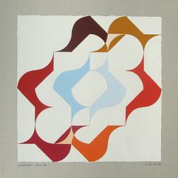 composizione 20, acrilico su cartone, 50x50 cm, 2012