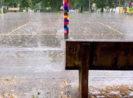 Oggi siam stati limitati, non fermati, dalla pioggia.