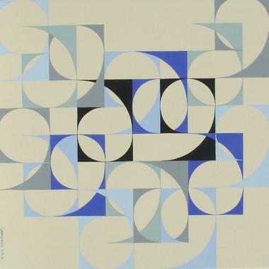 composizione 04, acrilico su tavola, 100x100 cm, 2014