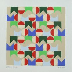 composizione 11, acrilico su cartone, 50x50 cm, 2013