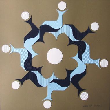 composizione 36, collage su carta, 90x90 cm, 2012