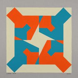 composizione 23, acrilico su cartone, 50x50 cm, 2011