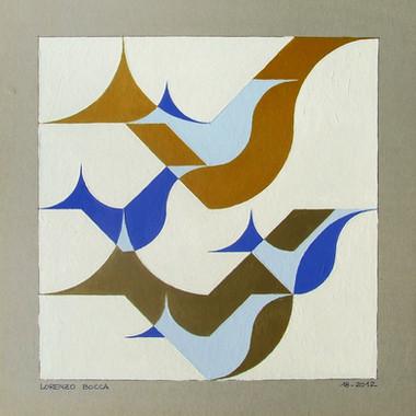 composizione 18, acrilico su cartone, 50x50 cm, 2012