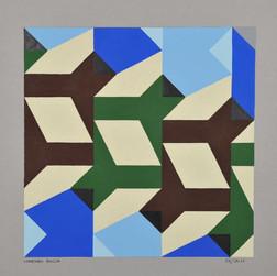 composizione 29, acrilico su cartone, 50x50 cm, 2011