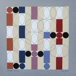 composizione 40, acrilico e inchiostro su cartone, 50x50 cm, 2012