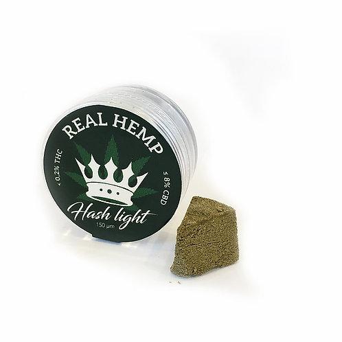 REAL HEMP Hash Light - Polline di Canapa PRESSATO - FUTURA75 - 1g • CBD 8%