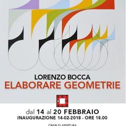 """""""Elaborare ge ometrie"""", mostra personale, Fondazione San Domenico, Crema, 2018"""