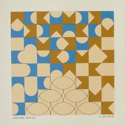 composizione 09, acrilico su cartone, 50x50 cm, 2013