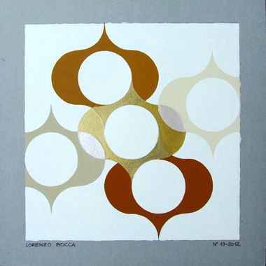 composizione 13, acrilico su cartone, 50x50 cm, 2012