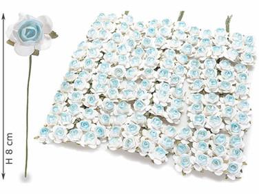 White/blue Roses