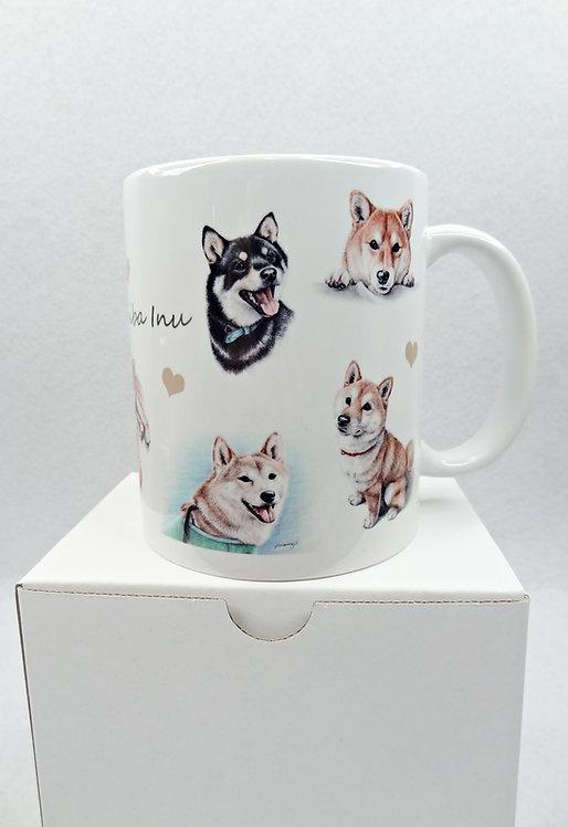 D02296 日本製繪畫柴犬杯_1