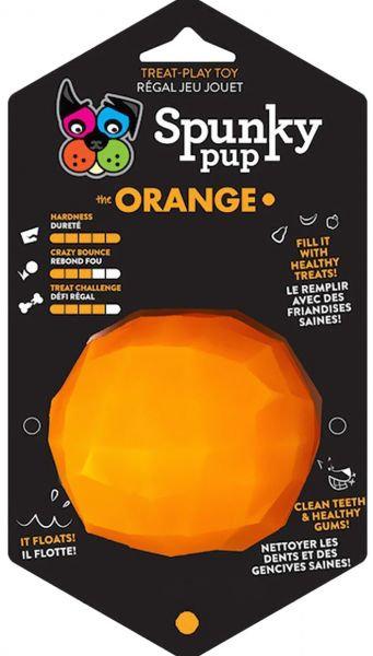 D01541_1 Spunky Pup Treat Play Toy - Orange