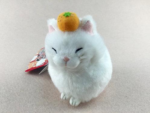 D01420_5 日本直送貓貓毛公仔擺設/吊飾_白