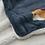 Thumbnail: D03107_1 柴犬毛毯 ブランケット おめかししばたさん_ネイビーブルー