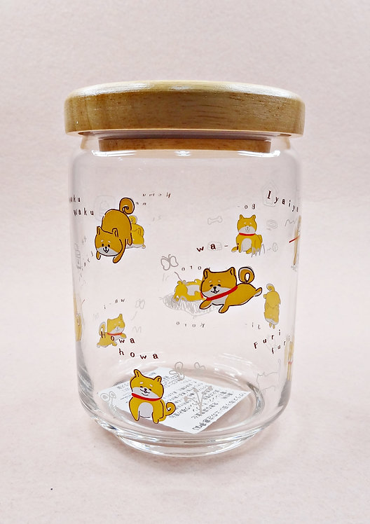 D02864 柴犬玻璃密實瓶