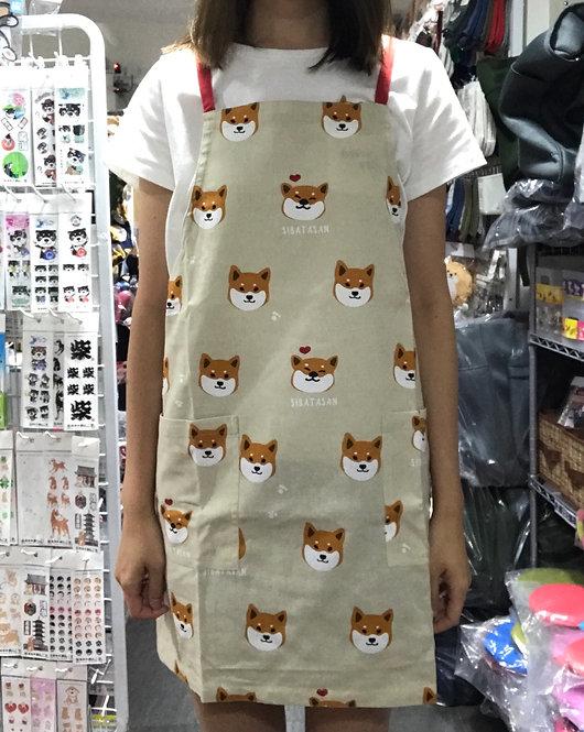 D01769_4 柴田圍裙(米色紅邊)