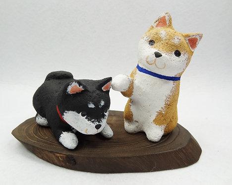 D02123  赤色﹑黑色柴犬