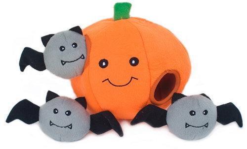 D01614 Zippy Paws Halloween Burrow - Pumpkin