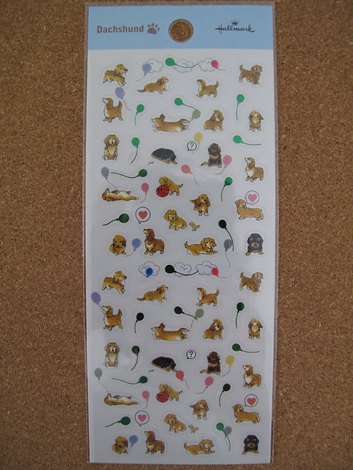 D00108 Hallmark 臘腸犬貼紙