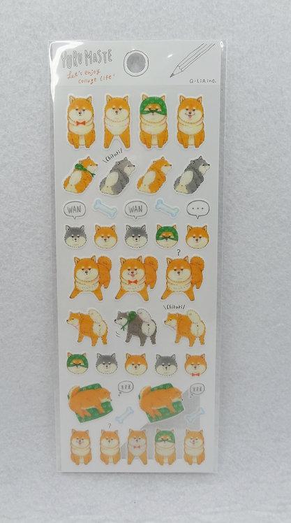 D01772 Yuru Maste 柴犬貼紙