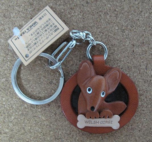 D00701 Vanca 哥基皮革圓型匙扣