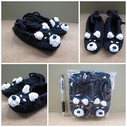 D00751 手織黑柴寶寶鞋