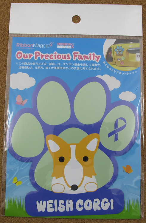 D00389 Our Precious Family Ribbon Magnet 磁石貼 哥基