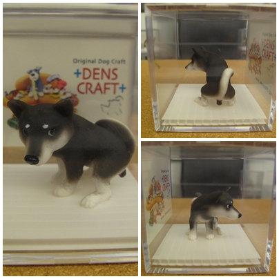 D00181 Denscraft Dog@cube 柴犬 (黑) - 便便中