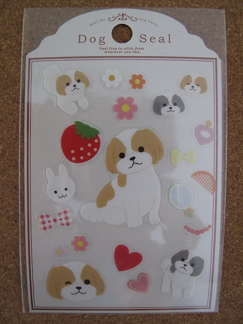 D00148 Dog Seal 西施貼紙