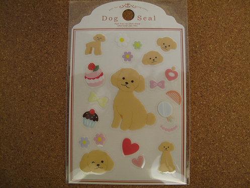 D00041 Dog Seal 貴婦犬(淺啡) 貼紙