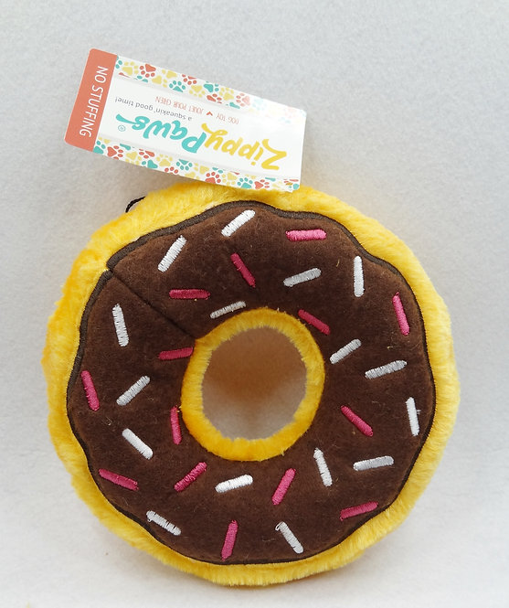 D01571_3 ZippyPaws Donut Dog Toy_Chocolate