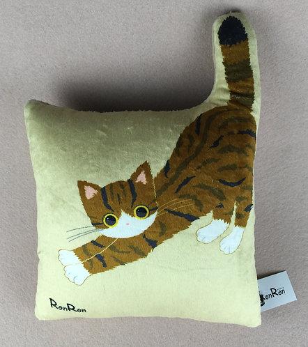 D00934 RonRon貓貓抱枕 (啡色)
