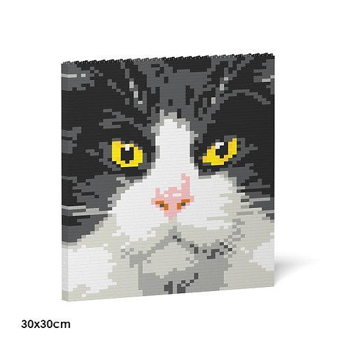 Tuxedo Cat Brick Painting 01S  (需訂貨)