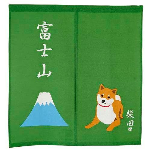 D01821_10 柴田門簾_赤柴綠色富士山