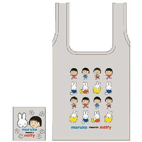 473-137 ミッフィー エコバッグ maruko meets miffy/グレー