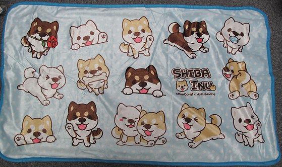 D01363 柴犬毛毯