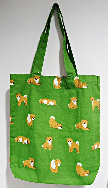 D01799 _32 柴田tote bag(赤柴與雀)