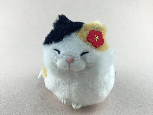 D01420_6 日本直送貓貓毛公仔擺設/吊飾_三色