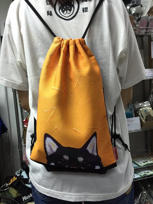 D01127_2 柴犬油畫背包 - 黑柴