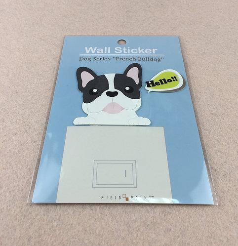 "D01448_3 Wall Sticker ""French Bulldog""  法國鬥牛犬牆貼"