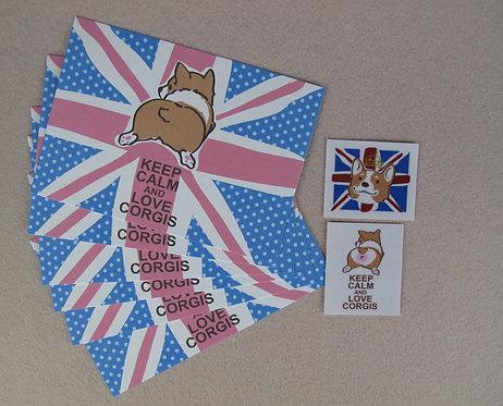 C031_1 哥基postcard 1 set 6張 (連2貼紙)